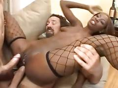 anal, black and ebony, cream pie, double penetration, interracial