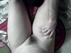 Hidden cam, masssage legs, play with lips, fast creampie