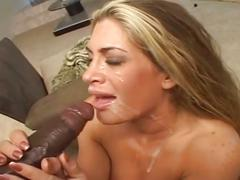 Interracial anal for busty blonde