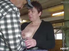 Kinky redhead grandma swallows