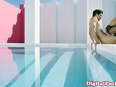 Chinese pornstar alina li amazing pool fuck