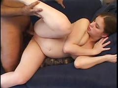 Black cock humping pregnant whore