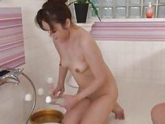 Soapy mature loves her man