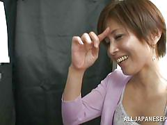 Mature asian lady gives a suck