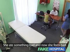 Fakehospital sexy foreign patient sucks and rides doctors cock