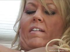 Blonde milf and her stepson get kinky