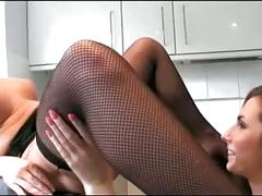Sexy lesbians eating in the kitchen!!!!!!!
