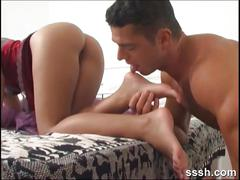 Seductress letting her partner worship her feet