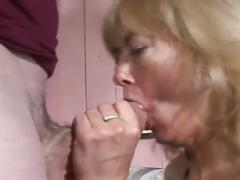 Hot mature getting her pussy fucked on couch