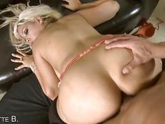 Bosomy bridgette b. got a huge dick on her pussy