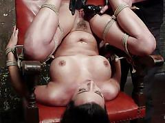 bdsm, punishment, squirting, vibrator, pov, upside down, brunette babe, executor, rope bondage, hogtied, kink, danica dillon