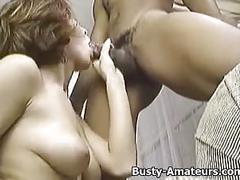 Busty amateur sarah sucking on cock