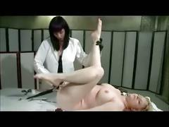 Femdom lesbian plays doctor