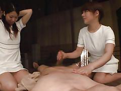 Japanese milfs want a wild threesome