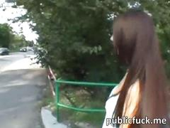 Sizzlin hot euro chick nailed in public