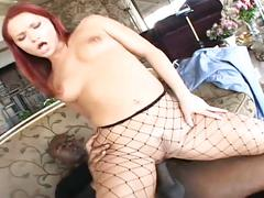 Perverse redhead gets assfucked