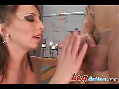 veronica jett, big dick, blowjob, hardcore, ass, anal, stockings, legs, fingering, brutal, doggie style, amateur, brunettes, big cock