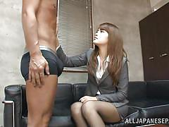 milf, asian, interview, office, blowjob, kissing, brunette, undressing, sumire, office sex jp, idol bucks