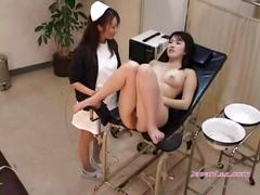 Patient fucked with sticks stimulated with vibrator...