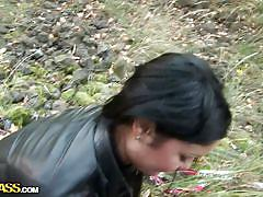 milf, public, czech, blowjob, talking, park, outdoors, black hair, pov, tommi, public sex adventures, wtf bucks