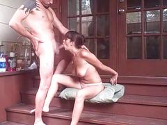 Couple have sex on the back porch !