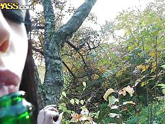 fisting, babe, outdoor, public, czech, park, nature, drinking, black hair, pov, pussy rubbinng, aliz, public sex adventures, wtf bucks