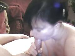 Naughty nikki swallows a load