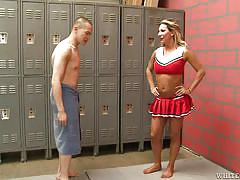 blowjob, locker room, gay on knees, naked gay, shemale cheerleader, white ghetto, fame digital, ariel everitts