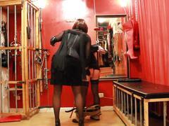 Spanking in furs