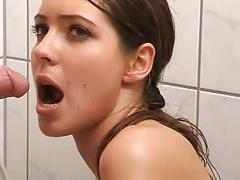 Very pretty model gets peed on 2