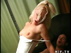 French blonde slut gets a big cock and cul in her ass