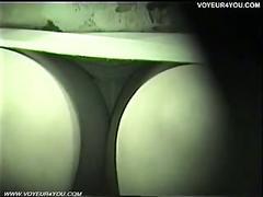 Voyeur opposite seat panties