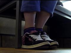 Public shoeplay in vans sneakers full