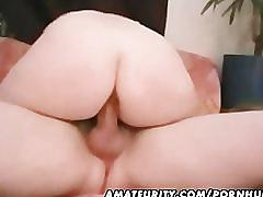 Chubby amateur housewife homemade fucking action