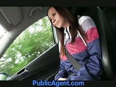 Publicagent natalie has huge boobs and is fucked on the back