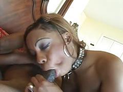 Thick black girl takes black cock