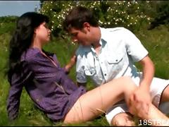 Couple fucking on grass