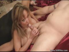 Amateur anal fun with blonde milf