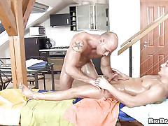 tattoo, massage, blowjob, oiled, gays, undressing, muscular, hunk, rub him, haze cash
