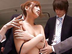 Slut at work receives men attention
