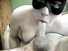 Deep throat with mask and throat cum