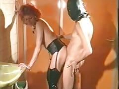 Redhead in boots fucked by thick cock
