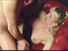Cock craving blonde slut rides until his nuts bust