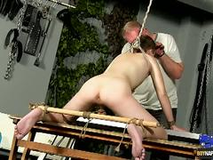 Aiden gets ass stretched wide