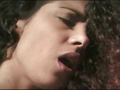 Big haired babe fucked deep