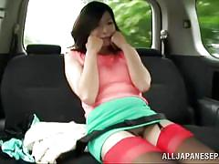 milf, asian, outdoor, stockings, sexy clothes, brunette, flasher, car, green field, japanese flashers, idol bucks