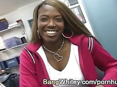 Interracial facial on sexy black girl