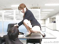 Pissing and rubbing cock at work