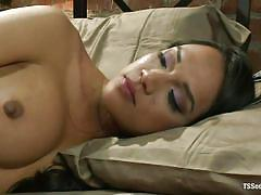 Dominant shemale enjoys her partner's sexy ass