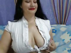 Big tits and little panties webcam strip